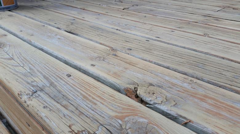 sanded deck