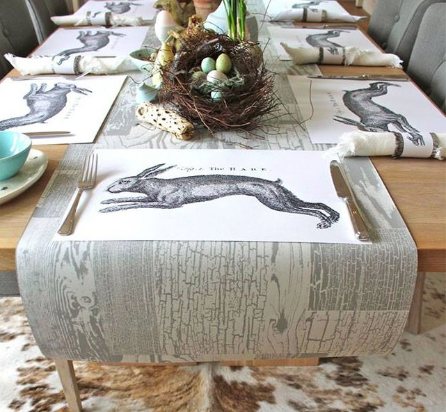 Hirshfield S Color Club: {bits & Pieces: Wallpaper As Table Runners}