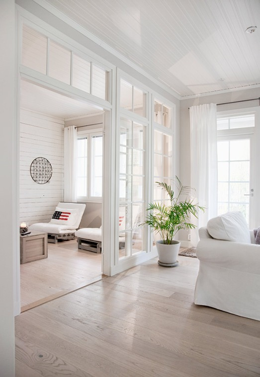 White Finnish interior