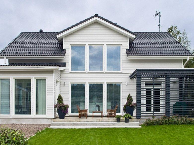 Finnish home back yard