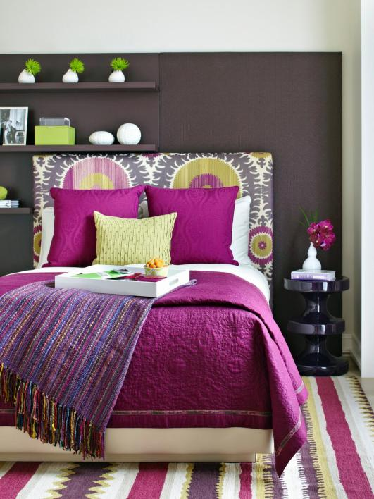 Bold Bedroom - HGTV | Photography by Werner Straube