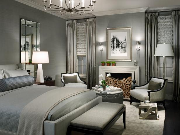 Contemporary Gray Bedroom - HGTV | Photography by Hedrick Blessing