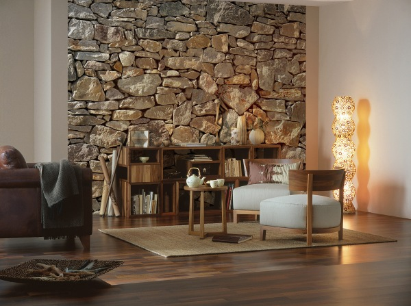 Stone Wall Mural from Brewster Wallcoverings
