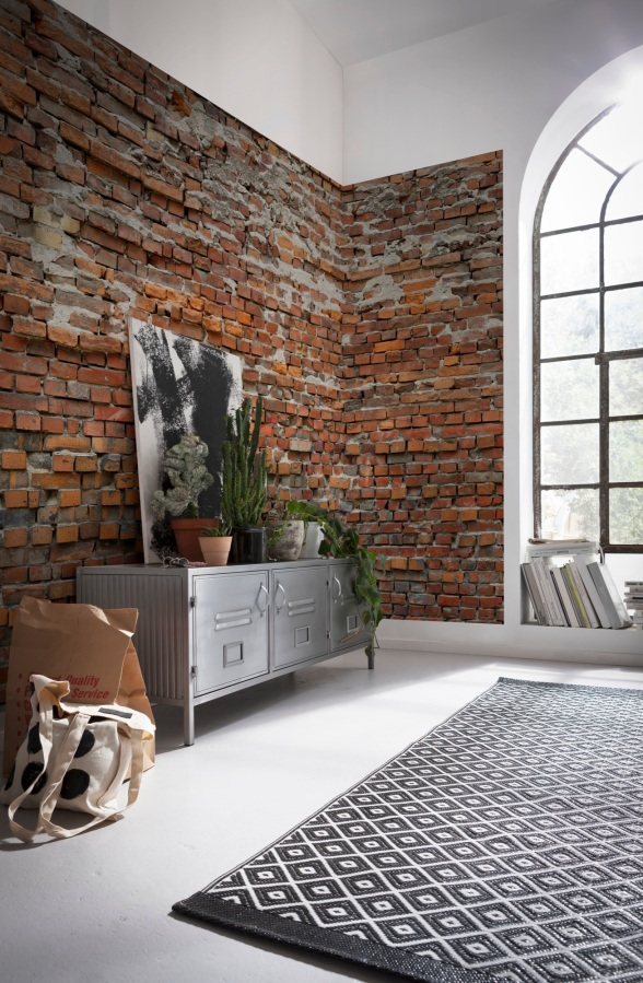 Brick Lane: {wallcovering Wednesday: Industrial Inspiration