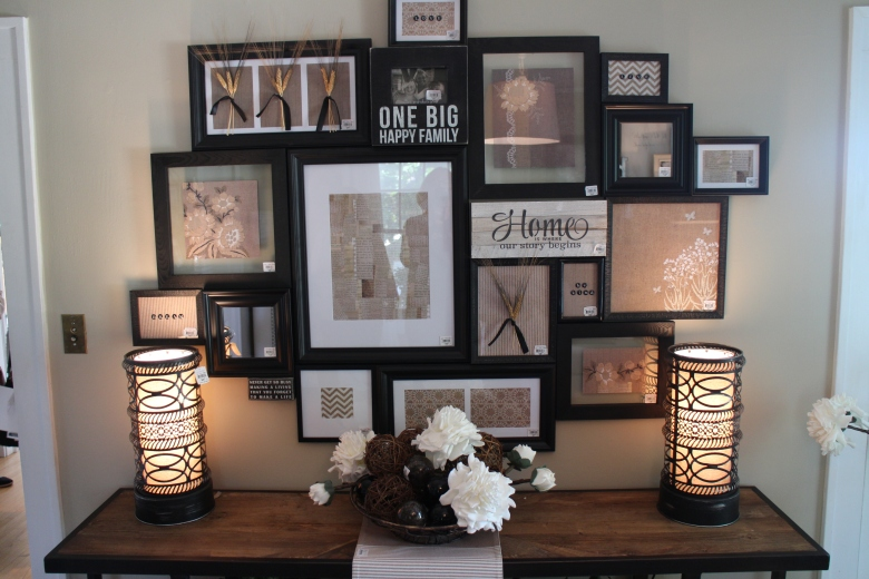 Gallery wall in Bachman's Fall Ideas House 2015