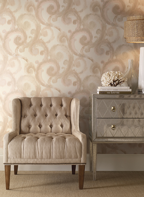 Arabesque York Wallpaper