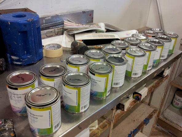 paint sample pints