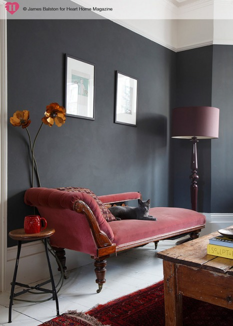 dark gray room heart To Home Magazine