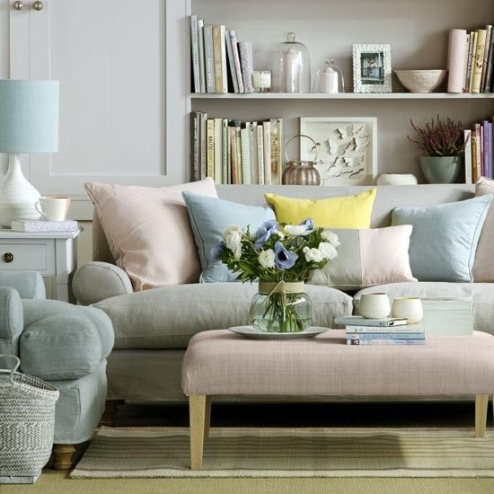 house to home pastel living room