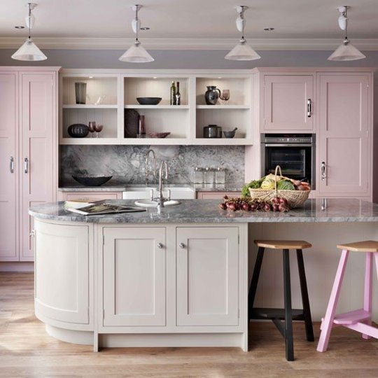 pale pink kitchen
