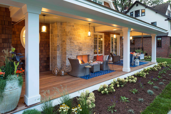 front porch Great Neighborhood Home 2015