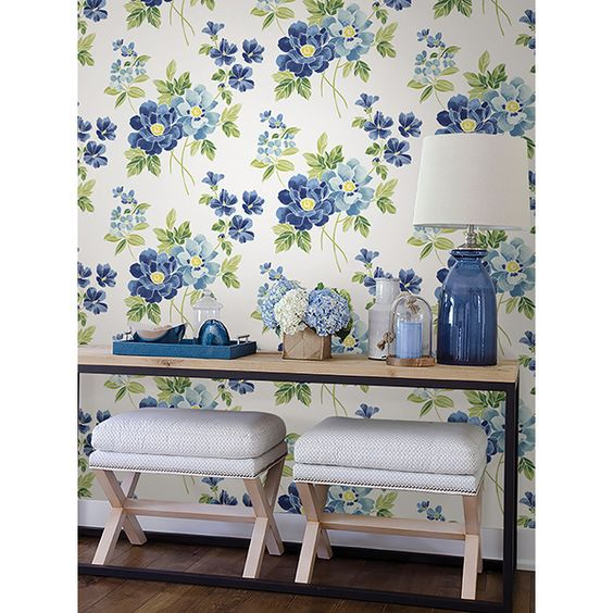 Catalina Watercolor Wallpaper | Brewster Wallcoverings