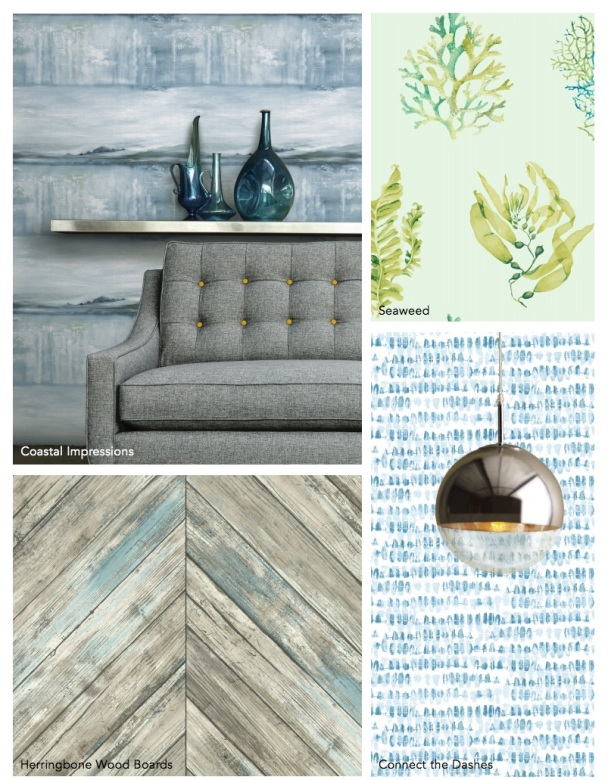 coastal Calm wallpaper book